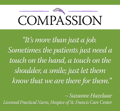 Suzanne Care Center Nurse Quote Hospice Of St Francis Brevard Cool Hospice Nurse Quotes