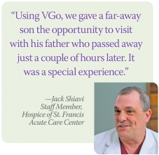 Jack VGo quote | Acute Care Center | Hospice of St. Francis