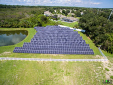 Solar Power Panels Aerial Picture Hospice of St. Francis Titusville FL